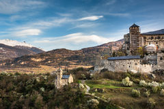 Sion, Switzerland - Valere castle royalty free stock photos