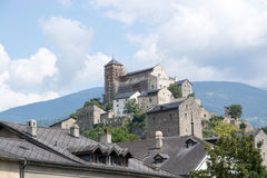Sion, Valais, Switzerland. Photo has been taken in Sion, Switzerland during a summer day royalty free stock image