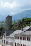 Sion, Valais, Switzerland. Photo has been taken in Sion, Switzerland during a summer day royalty free stock photography