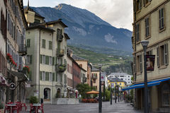 Sions-Stadtzentrum lizenzfreies stockbild