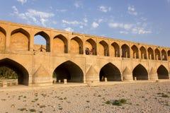 Siose Pol Bridge em Isfahan, Irã Fotografia de Stock Royalty Free
