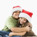 siostra przytulenia brata Zdjęcia Stock