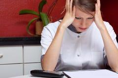 Siostra z burnout i migreną Obraz Stock