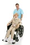 siostro osób niepełnosprawnych, senior Zdjęcia Royalty Free