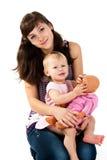 siostry target424_1_ dwa Zdjęcia Royalty Free