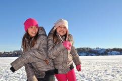 siostry zima Obrazy Stock