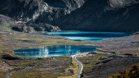Siostrzani jeziora Chiny zdjęcia stock