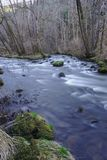 The Sioule, Auvergne river in spring stock photo