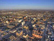 Sioux Falls är den största staden i tillståndet av South Dakota och den finansiella mitten arkivfoto