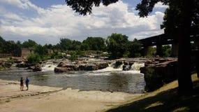 Sioux Falls. Beautiful falls in Sioux Falls, South Dakota Royalty Free Stock Photos