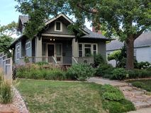 Craftsman Bungalow Architecture Home. Sioux Falls Historic Home architecture in the Craftsman Bungalow Style Stock Images