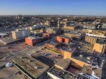 Sioux Falls ist die größte Stadt im Zustand von South Dakota und von Finanzzentrum Stockbild