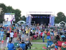 JazzFest. Sioux Falls Jazz & Blues Society produces and promotes a free concert for all in Yankton Trails park. This photo shot is from the 2018 concert stock images