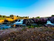 Sioux Falls Park en la puesta del sol Fotografía de archivo libre de regalías