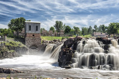 Sioux Falls, South Dakota. Sioux Falls revolves around the cascades of the Big Sioux River royalty free stock photos