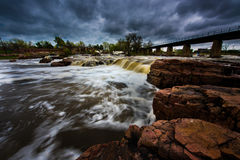 Sioux Falls South Dakota United States Landscapes. Falls Park - Sioux Falls South Dakota United States Landscapes Stock Photography