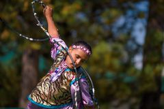 Sioux Hoop Dance Immagine Stock