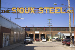 Sioux Steel Company sign, Stock Image