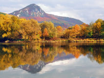 Sip hill and Vah river in autumn Stock Photography