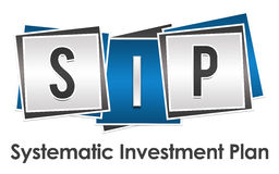 SIP - Systematic Investment Plan Blue Grey Blocks Royalty Free Stock Photography