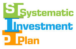 SIP - Systematic Investment Plan Colorful Abstract Stripes Stock Photography