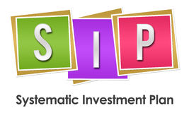 SIP - Systematic Investment Plan Colorful Blocks Stock Photos