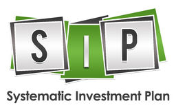 SIP - Systematic Investment Plan Green Grey Blocks Stock Photos