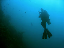 sipadan潜水员好的水肺的符号 免版税库存照片