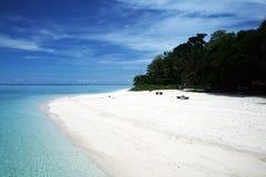 Sipadan. A white tropical beach on sipadan island in malaysian borneo Stock Photography