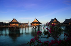 Sipadan Kapalai Dive Resort. Stilt Resorts at Sipadan Kapalai Dive Resort, Sabah, Malaysia stock images