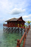 Sipadan Water Village Resort Stock Images