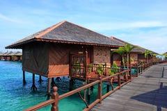 Sipadan Water Village Resort. View of Sipadan water village resort at Mabul Island Royalty Free Stock Photo