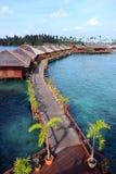 Sipdan Wasser-Dorf-Rücksortierung Stockbilder