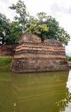 SiPhum hörn den forntida väggen i Chiang Mai Arkivbild