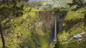 Sipiso piso waterfall in Danau Toba, Indonesia. Stock Image