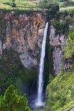 Sipisopiso waterfall, Medan, Indonesia. Stock Image