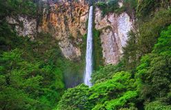 Sipisopiso waterfall, Medan, Indonesia. Royalty Free Stock Photo