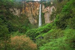 Sipisopiso waterfall, Medan, Indonesia. The Sipisopiso waterfall, Medan, Indonesia Royalty Free Stock Photography