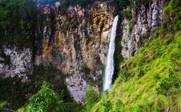 Sipisopiso waterfall, Medan, Indonesia. Stock Images