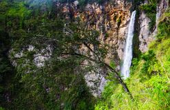 Sipisopiso waterfall, Medan, Indonesia. The Sipisopiso waterfall, Medan, Indonesia Stock Photography