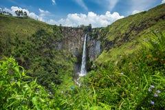 Sipisopiso waterfall in northern Sumatra Stock Image