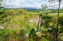 Sipisopiso waterfall in Northern Sumatra, Indonesia Stock Photography