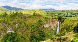 Sipisopiso waterfall in Northern Sumatra, Indonesia Stock Photos