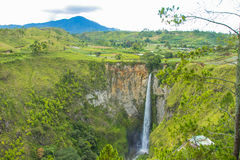 Sipisopiso waterfalls Royalty Free Stock Photo