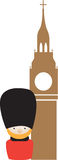 Siple colour icon representing london Royalty Free Stock Images