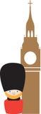 Siple-Farbikone, die London darstellt Lizenzfreie Stockbilder