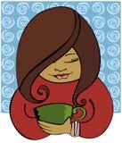 sipping кофе Стоковые Фото