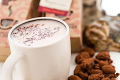 Sipping Chocolate Stock Photography