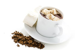 Sipping chocolate Royalty Free Stock Photography