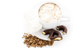 Sipping chocolate Royalty Free Stock Photos